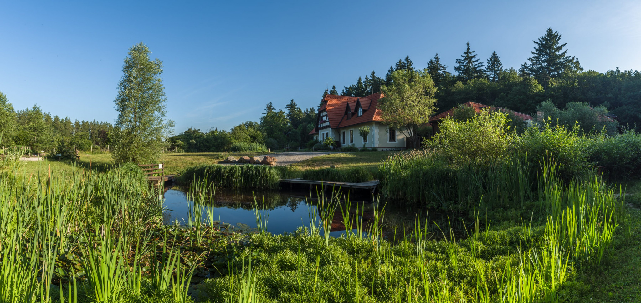 Lipka – Relaxační zahrada Jezírko