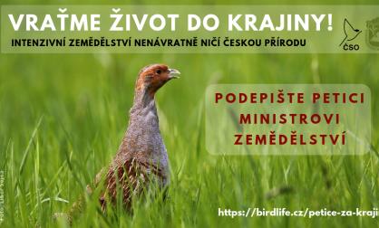 Podepište petici pro ministra zemědělství